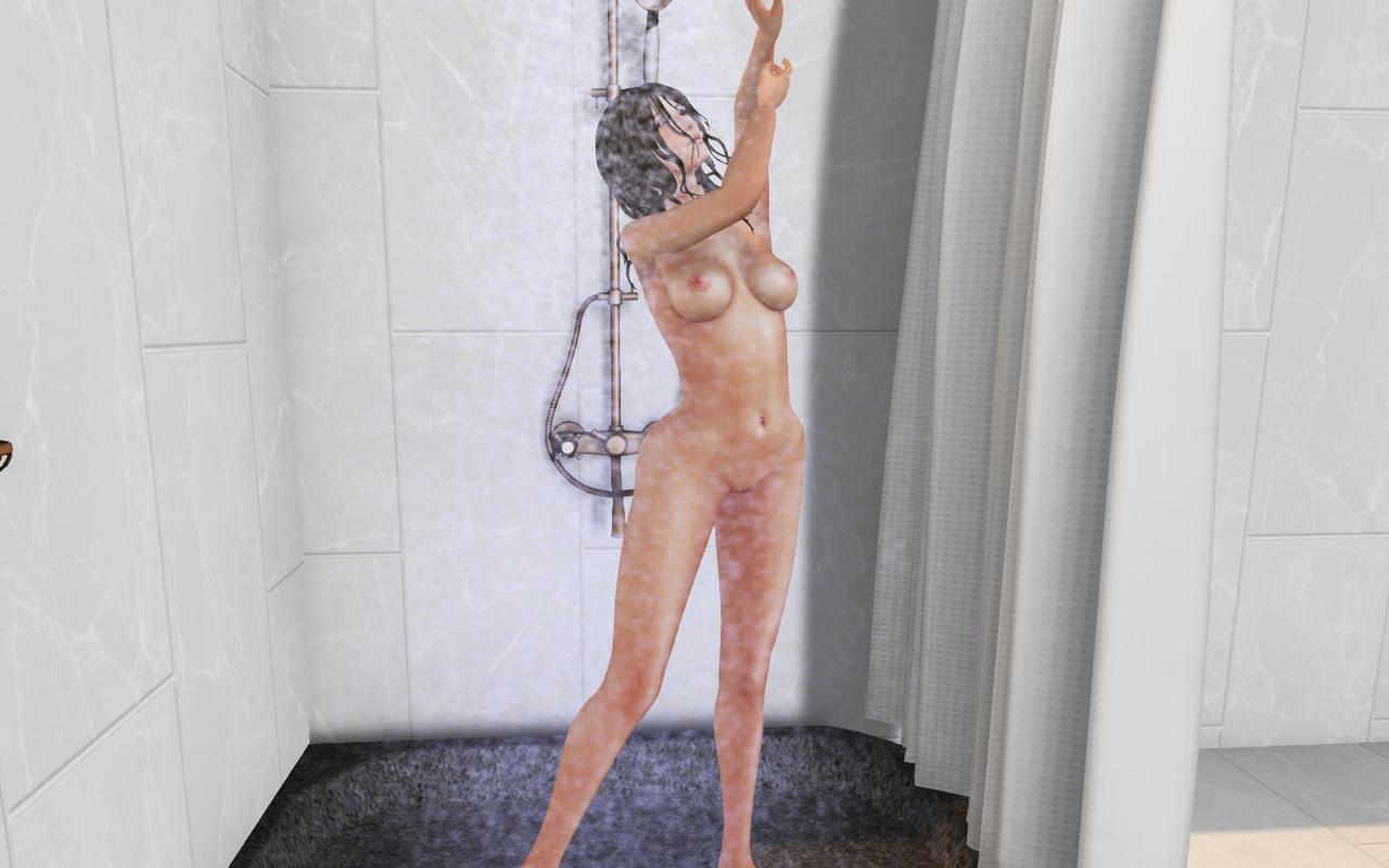 黒髪美人お姉さんとシャワー浴びながらご奉仕SEX